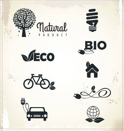 Eco sign, set  Vector