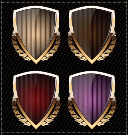 Shields with laurel wreath Vector