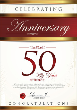 anniversary card: 50 years anniversary background Illustration