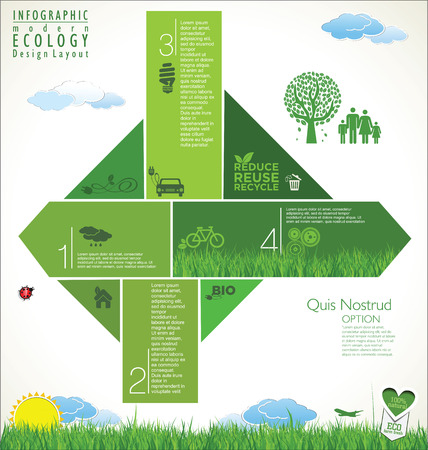 recycle tree: Modern green ecology design template
