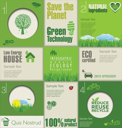 educazione ambientale: Modello di ecologia design moderno verde