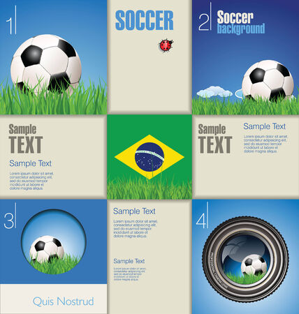 Modern soccer design template Vector