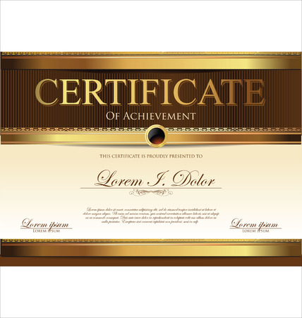 wax seal: Certificate template