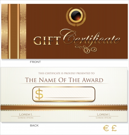 fluted: Voucher, Gift certificate, Coupon template Illustration