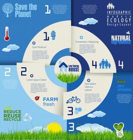 Modern fond d'écologie Banque d'images - 25041122