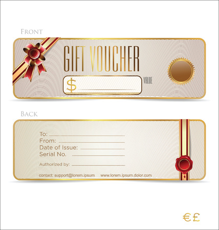 Voucher, Gift certificate, Coupon template Vector