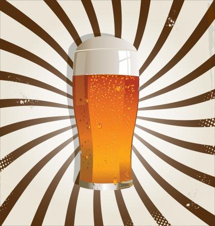 Pivo retro pozadí