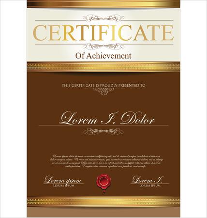 elegant frame: Certificate template
