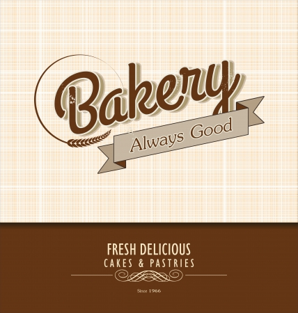 bakery sign: Vintage Bakery Poster