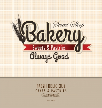 Vintage Bakery Poster Vector