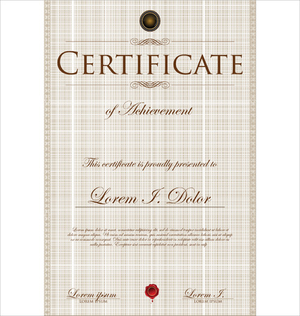 bank note: Certificate template