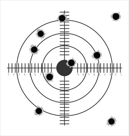 fusil de chasse: cibler avec des trous de balles
