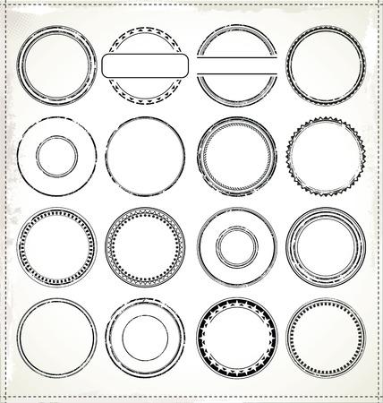 warranty: Blank vector rubber stamp  Illustration