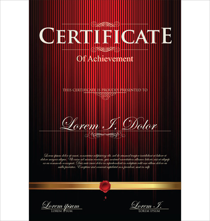certificates: Red certificate template