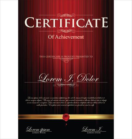 Red Zertifikatvorlage Standard-Bild - 25280000