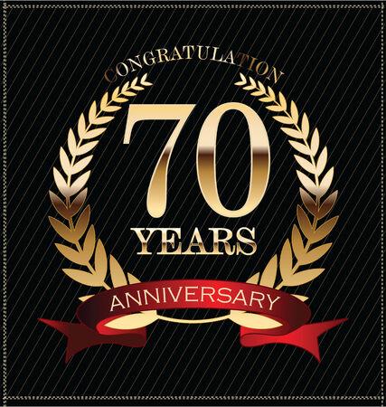 70: Anniversary golden laurel wreath, 70 years