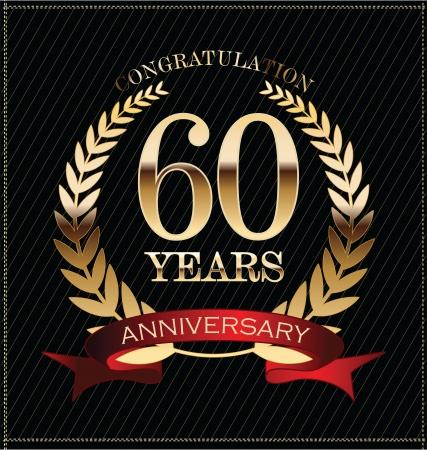60 years: Anniversary golden laurel wreath, 60 years