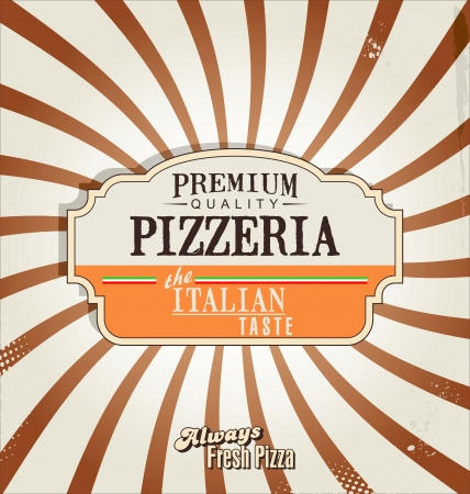 Pizza fondo retro