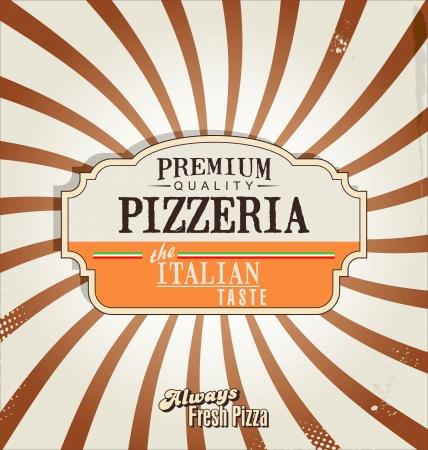 Pizza retro background Illustration