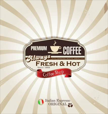 Coffee retro background Vector