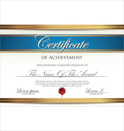 Zertifikatvorlage Standard-Bild - 25438367