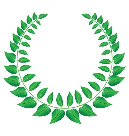 Green laurel wreath Vector