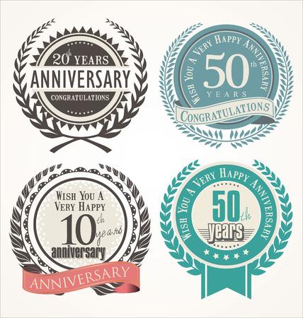 honors: Anniversary laurel wreath Illustration