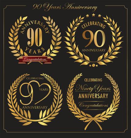 90 years: Anniversario d'oro corona di alloro, 90 anni