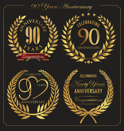 90: Anniversary golden laurel wreath, 90 years