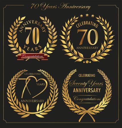 70 years: Anniversary golden laurel wreath, 70 years
