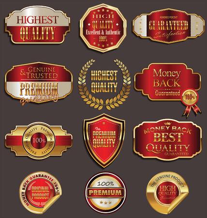 Set of premium golden labels Stock Vector - 25781453