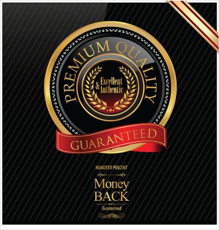 Premium quality elegant glossy label Vector