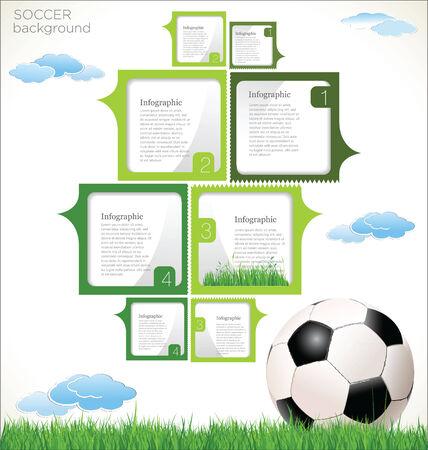 power point: Soccer background Illustration