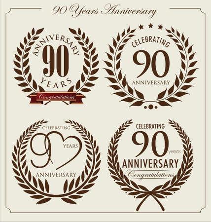 90: Anniversary laurel wreath, 90 years