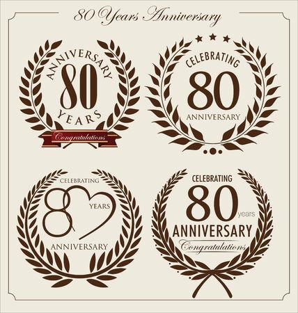 80 years: Anniversary laurel wreath, 80 years