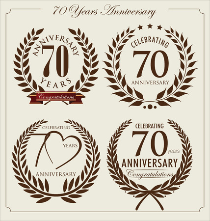 70: Anniversary laurel wreath, 70 years Illustration