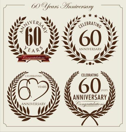 60: Anivers�rio coroa de louros, 60 anos