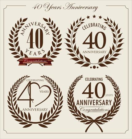 40 years: Anniversary laurel wreath, 40 years
