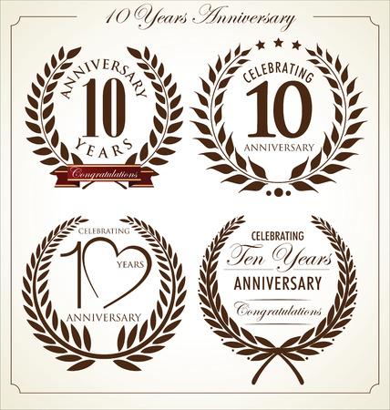 10 years anniversary: Anniversary laurel wreath, 10 years
