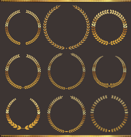 Golden laurel wreath Vector