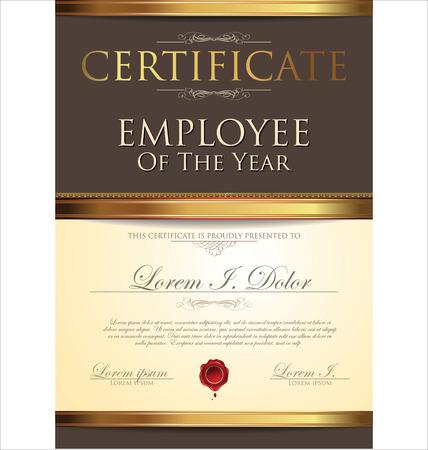 månader: Certifikatmallen, anställd av året