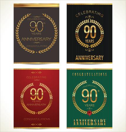 90 years: Aniverrsary corona di raccolta striscione d'alloro, 90 anni