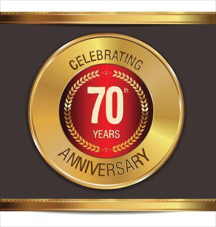 70 years: Anniversary golden sign, 70 years