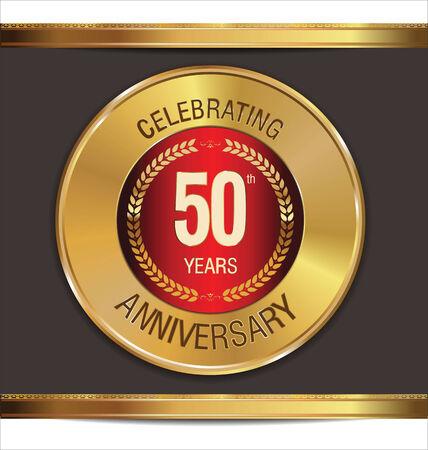 Anniversary golden sign, 50 years