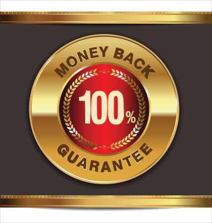 Money back golden label Vector