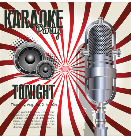 Karaoke party background Vector
