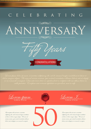Anniversary certificate template Vector