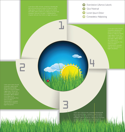 Modern ecology Design Layout Illustration