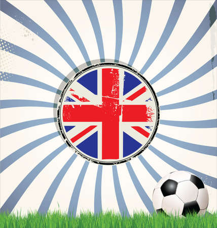 grunge union jack: Soccer background Illustration