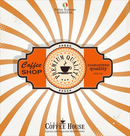 coffee shop retro background Stock Vector - 26964742
